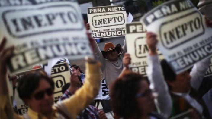 Protestas contra Peña Nieto.