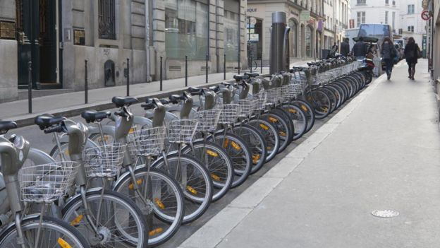 China dominates the world in bike-sharing schemes, with five of its cities in the top six — but among those six is Paris, which squeezes in nearly 24,000 city bicycles for rent.