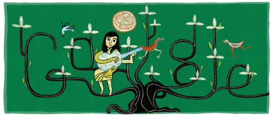 Doogle de Google en homenaje a Violeta Parra.