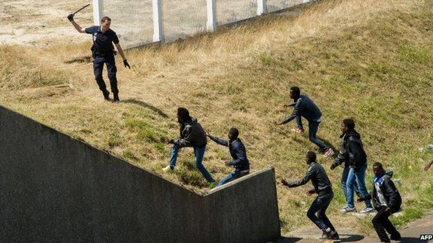 Image result for calais migrants
