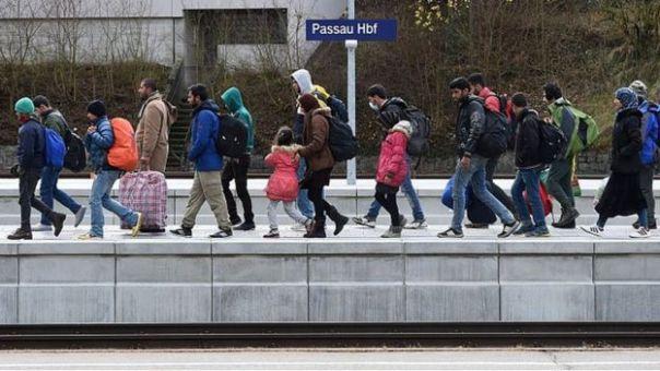 Inmigrantes sirios en Alemania.