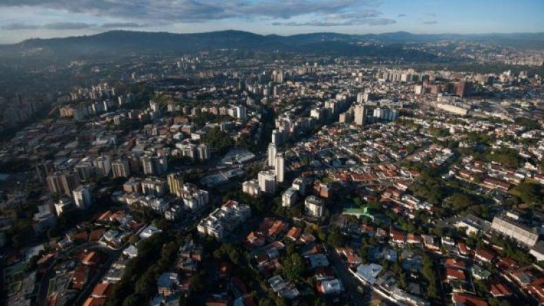 Vista aérea de Caracas.