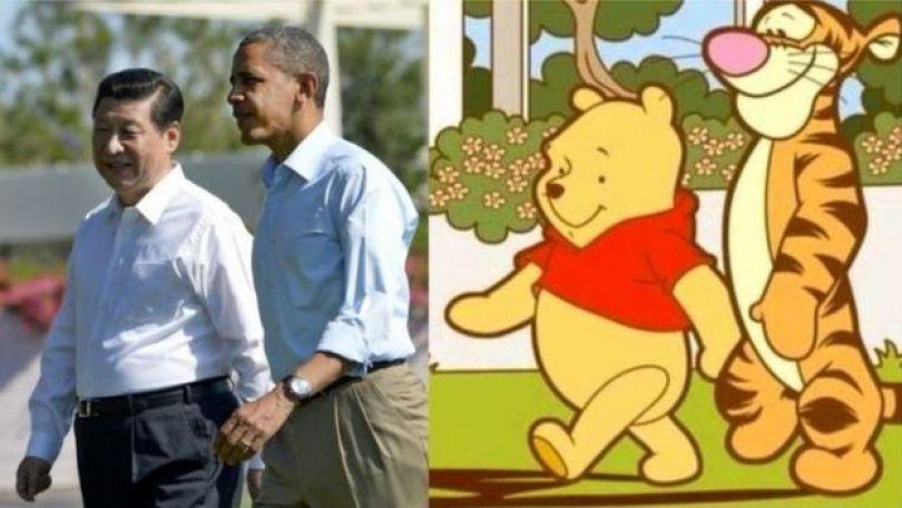 Meme com o presidente chinês e Obama