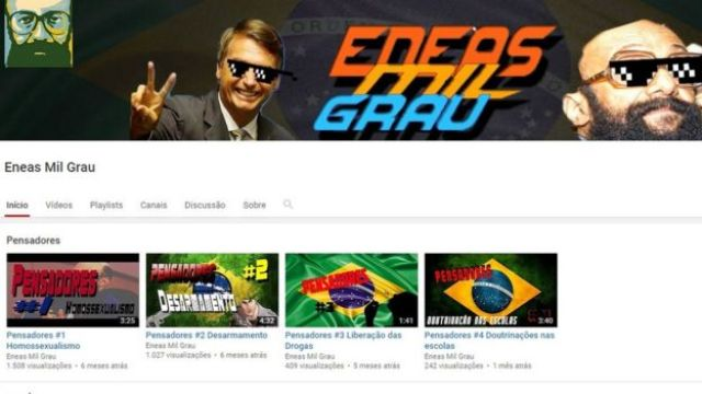 Página Eneas Mil Grau no YouTube