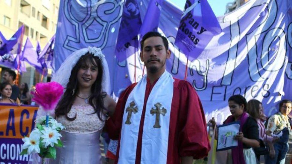 En Santiago de Chile también hubo actividades para conmemorar el Día de la Mujer.