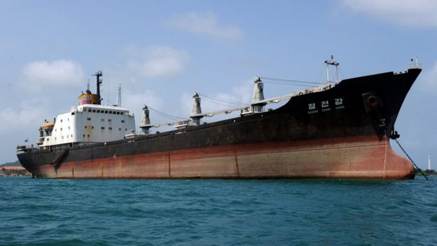 North Korean ship, impounded in Panama