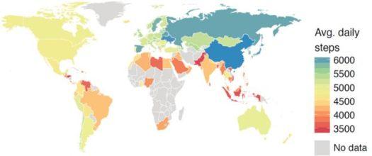 Mapa de inatividade