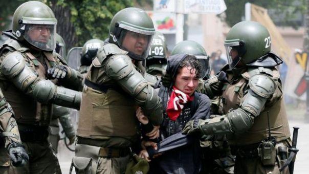 Protesta en Valparaiso