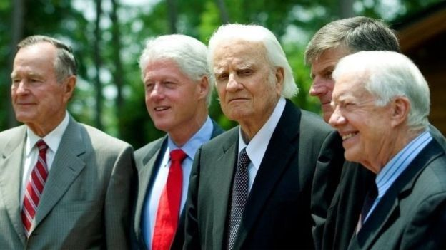 Grahan con varios presidentes de EE.UU.