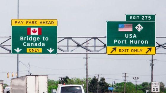 Fronteira entre Canadá e Estados Unidos