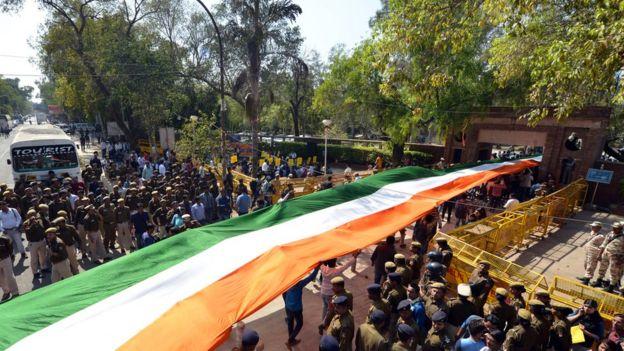 দিল্লিতে বিজেপির ছাত্র শাখার উদ্যোগে 'তিরঙ্গা মার্চ'