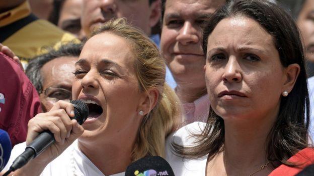 Lilian Tintori y María Corina Machado
