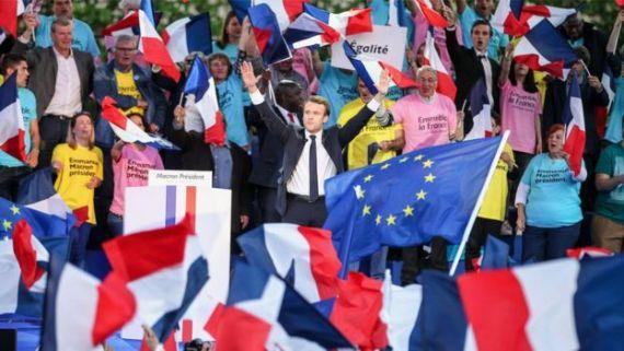 Macron en campaña