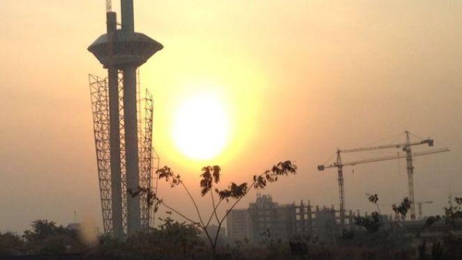 A sunrise over Abuja, Nigeria - 2015