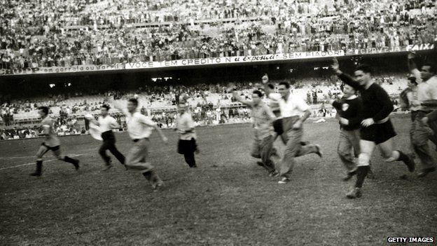 Image result for uruguay wins 1950 world cup