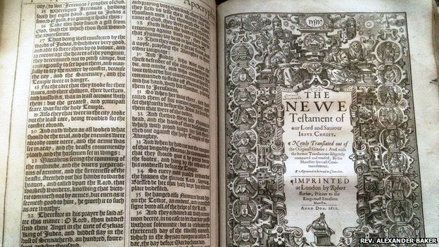 Rare Great She Bible found in Lancashire, UK