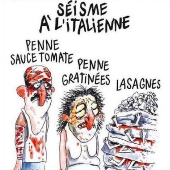 Foto de una caricatura de Charlie Hebdo