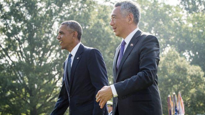 Tổng thống Barack Obama tiếp Thủ tướng Ly Hiển Long ngày 2/8/2016