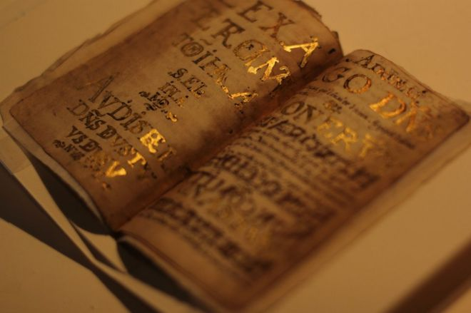 Luis de Carvajal used gold leaf from Bibles to decorate the diary