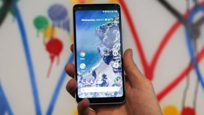 Google Pixel de frente