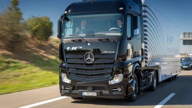 Daimler's self-driving truck took to a German autobahn to prove its capabilities