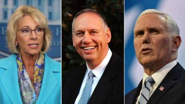 Betsy DeVos, Ralph Drollinger, Mike Pence