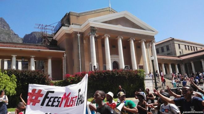 University of Cape Town (UCT) protest over tuition fees