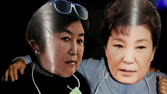 Tỉ lệ thăm dò dân chúng ủng hộ bà Park đã rớt xuống còn 5%.