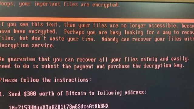 Ransomware screenshot