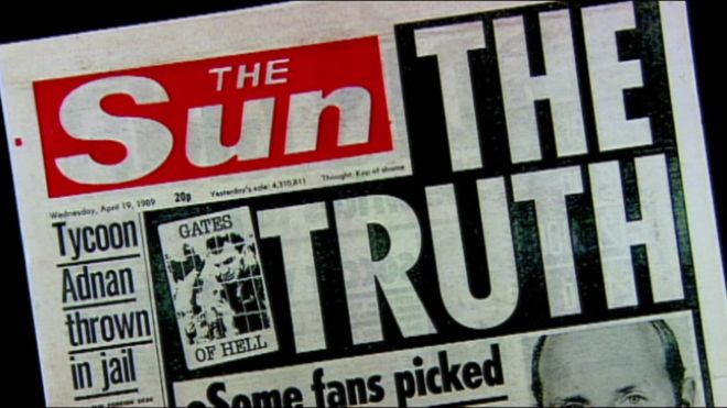 Image result for the sun hillsborough lies