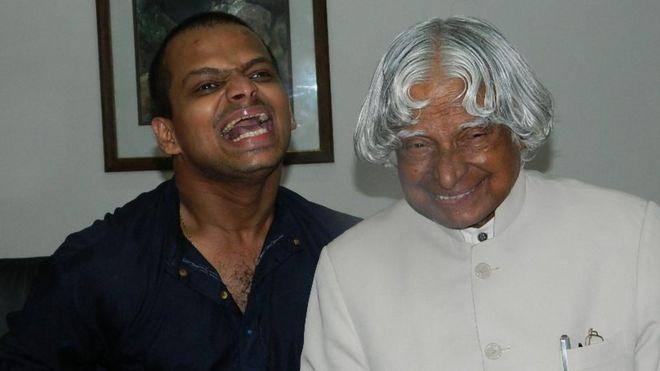 "Siddharth Jaykumar (left) says Dr Kalam ""taught him to be a good human being"""