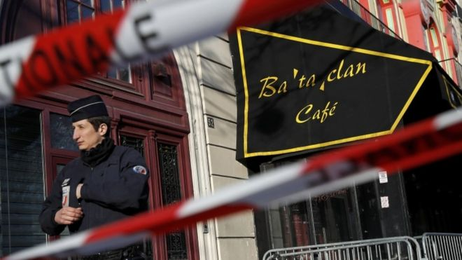 Security at Bataclan, 17 March 2016