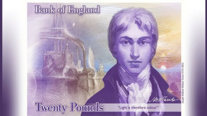 Design for new Bank of England £20 note