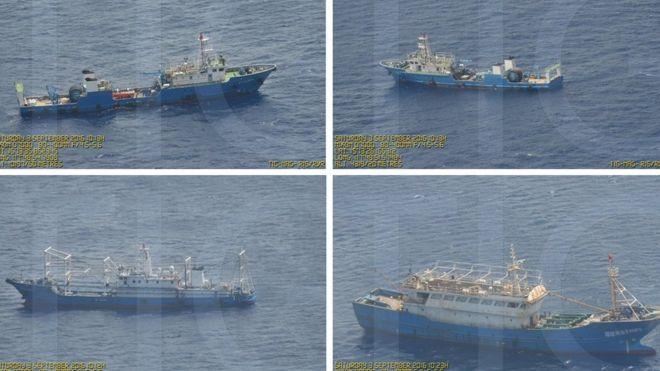 Tàu Trung Quốc đang hoạt động ở bãi cạn Scarborough