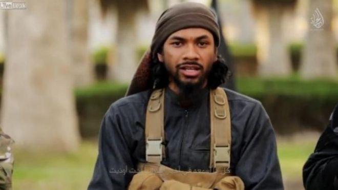Screengrab from video showing Australian Islamic State militant Neil Prakash