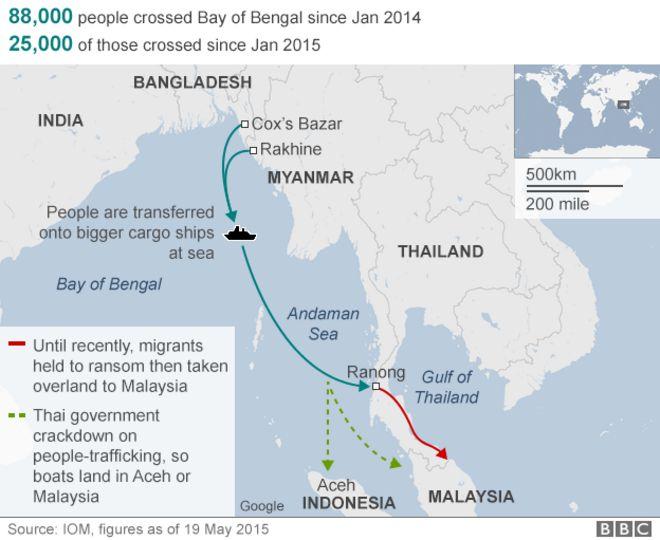 Andaman Sea and Bay of Bengal routes
