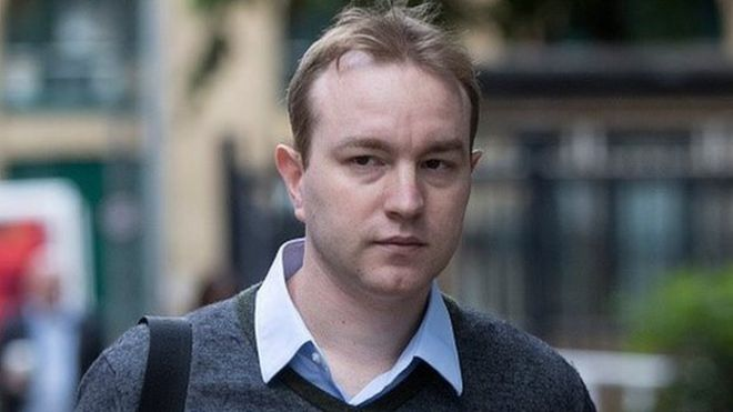 35-year-old Tom Hayes arriving for his trial at Southwark Crown Court on Wednesday 3rd June