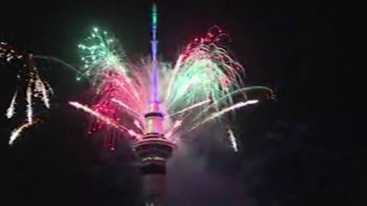Fireworks in Auckland