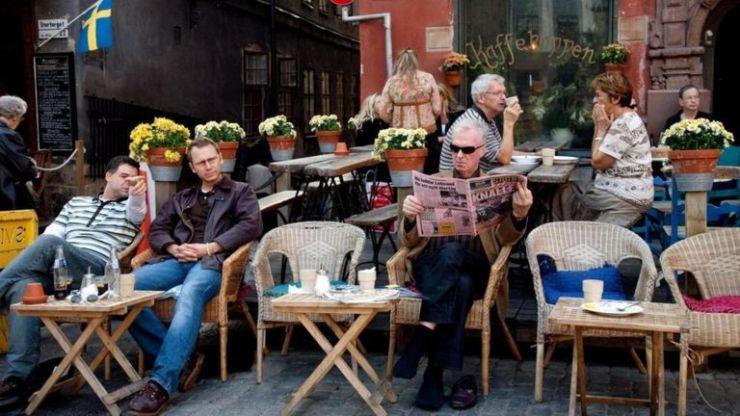 Un café en Suecia