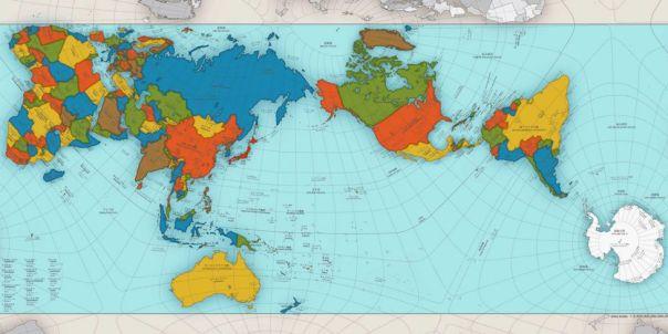 Mapa creado por Hajime Narukawa