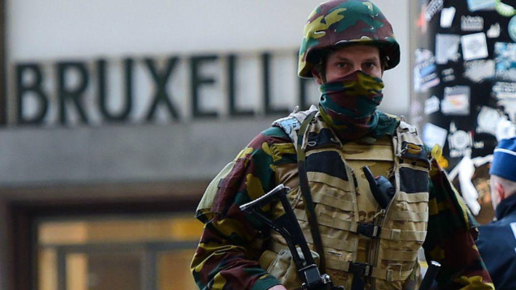 Policía en Bruselas