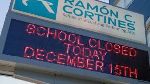 Escuela cerrada en L.A.