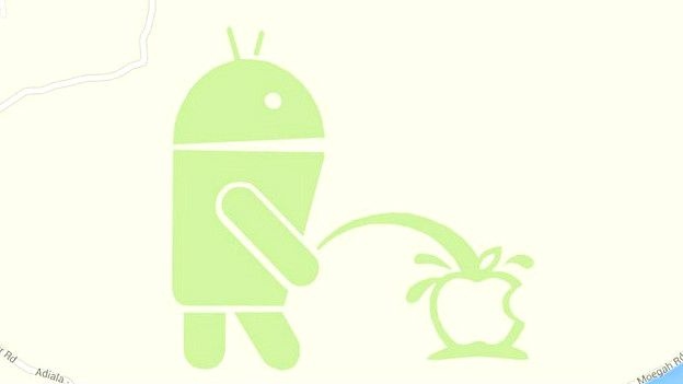 Android, Apple, Google maps