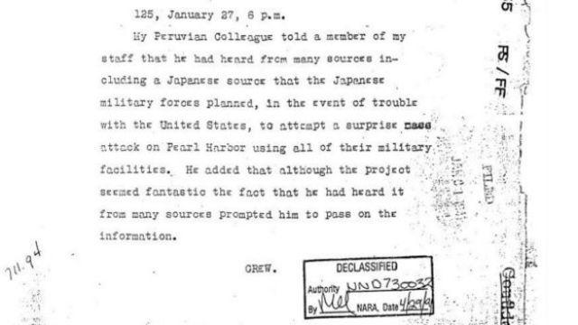 Telegrama de Joseph Grew a Estados Unidos