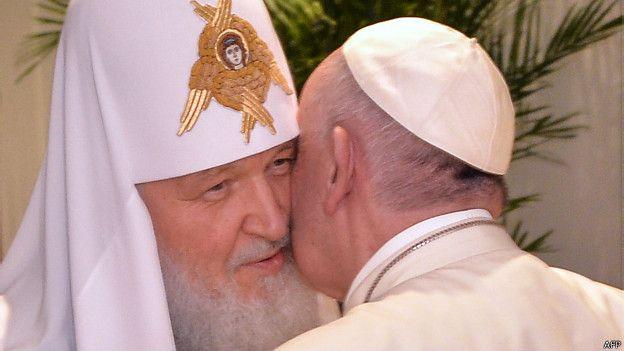 पोप फ्रांसिस और रूसी ओर्थोडॉ़क्स चर्च प्रमुख किरिल