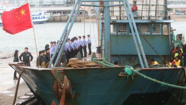 Un barco chino confiscado en Corea del Sur
