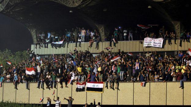 इराक़ प्रदर्शनकारी