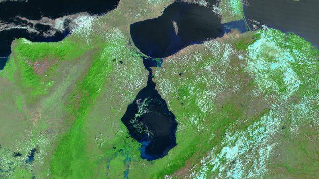El estado Zulia rodea al lago de Maracaibo, el más grande de Sudamérica