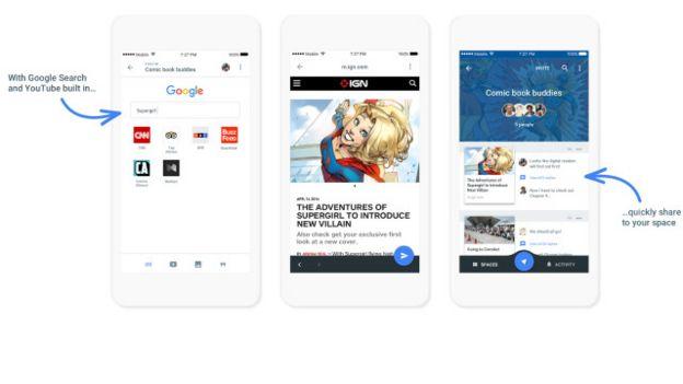 La app de Google, Spaces