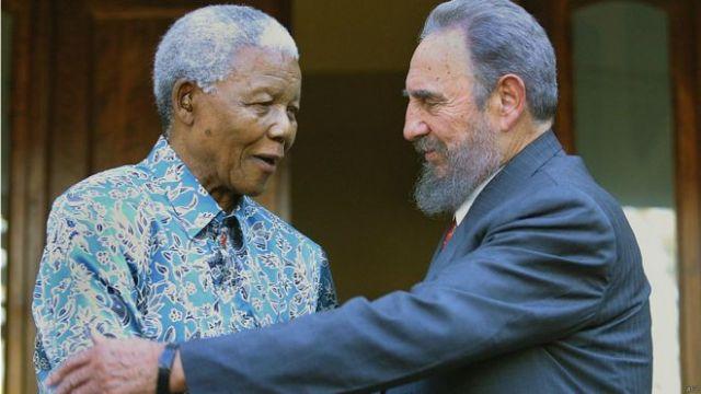 Fidel Castro y Nelson Mandela. Foto: AFP Getty